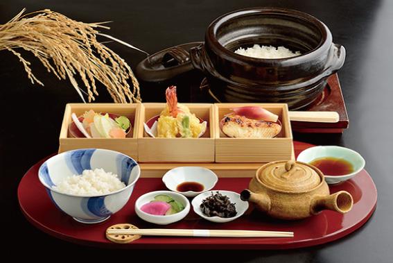 三種のお茶漬け御膳 1,680円(税別)